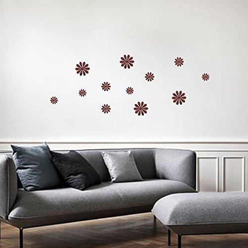 ufengke 12 Pezzi 3D Fiori Adesivi Murali Fashion Design DIY Fiori Arte Adesivi da Parete Artigianato Decorazione Domestica