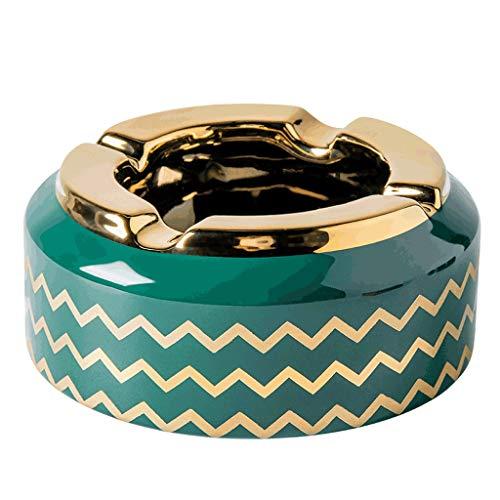 Ceniceros originales Cenicero de cigarrillos para hombre Mujeres Bandeja de ceniza de cerámica brillante para al aire libre en el interior, soporte de ceniza de escritorio para la decoración de la ofi