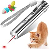 YYCAT Cat Toys for Indoor Cats,7 in 1 Function,Rechargeable Interactive Cat Toy Wand with a Free Toy Mouse