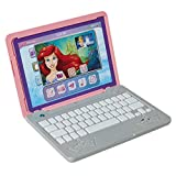 Disney Princess Girls Play Laptop Computer Style Collection Click & Go Play Laptop for Girls with Sounds & Light Up On Button Features Removable Double-Sided Play Background, For Ages 3+