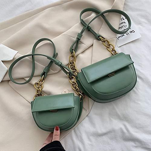 Mdsfe Mini Bolso Bandolera de Cuero PU para Mujer, Bolso pequeño de Moda 2020, Bolso de Mano y alforja para Mujer, pequeño Verde