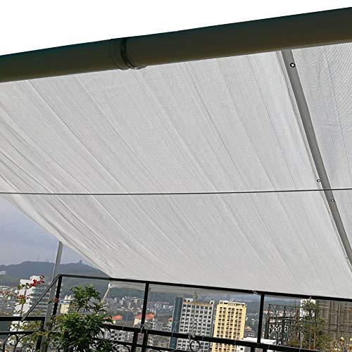 Blanc Couvercle de Protection Solaire pour Bloquer Soleil, Grand Tissu de Maille D'ombre Extérieure avec Boutonnière en Métal, 100g/㎡ (Size : 5x6m)