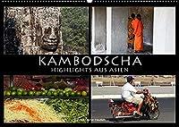 Kambodscha - Highlights aus Asien 2022 (Wandkalender 2022 DIN A2 quer): Uralte Khmer-Tempel und der farbige Alltag in Kambodscha. (Monatskalender, 14 Seiten )