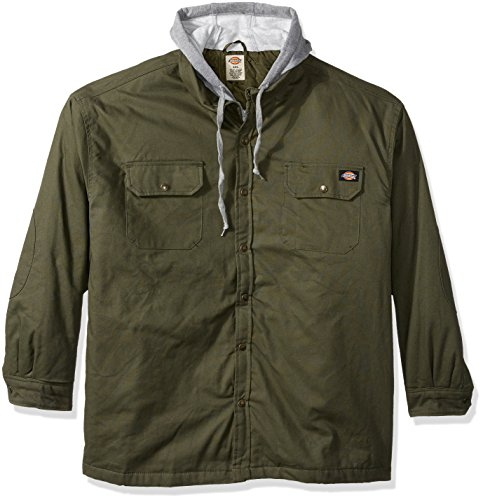 Dickies Mens Canvas Shirt Jacket Light Sage