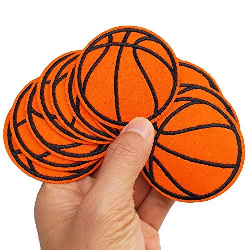6,1 x 6,1 cm, 12 Stück, Basketball-Sport-Aufnäher zum Aufbügeln oder Aufnähen, bestickte Applikationen, Maschinenstickerei, Nähen, Handwerksprojekte