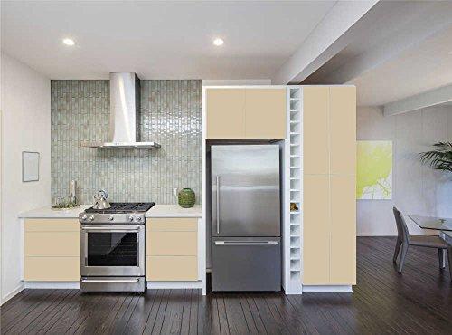 INDIGOS UG - Aufkleber für Küchenschränke 63x500cm - MATT - Folie aus hochwertigem PVC Tapeten Küche Klebefolie Möbel wasserfest für Schränke selbstklebende Folie Küchenfolie Dekofolie - Beige