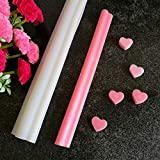 Echodo Heart Tube Column Silicone Soap Mold Embed Soap Making Supplies Tool Heart Shape Candle Mold Set Soap Mould