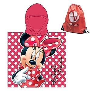Poncho Toalla de niño Infantil de baño y Playa con Capucha Licencia Oficial Disney (8091)