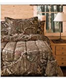 Mossy Oak Camouflage Boys Hunting Cabin Queen Comforter & Shams (3 Piece Bedding)