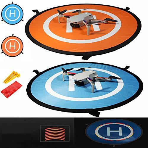 iMusk 55cm Drohne und Quadcopter-Landeplatz, RC-Flugzeug-Softstartmatte Oberfläche aus wasserdichtem, umweltfreundlichem Polyester Für DJI Air 2S, DJI FPV, DJI Mini 2, Spark, Tello, Mavic Air Zubehör