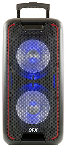 "QFX PBX-100 Dual 10"" Bluetooth Rechargeable Speaker with TWS"