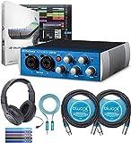 PreSonus AudioBox USB 96 2x2 Audio Interface Bundle with Studio One Artist, Studio Magic Plug-in Suite, Samson SR350 Headphones, Blucoil 2x 10' XLR Cables, 6' 3.5mm Extension Cable, and 5x Cable Ties