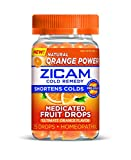 Zicam Cold Remedy Medicated Fruit Drops, Ultimate Orange, 25 Count (Pack of 1)
