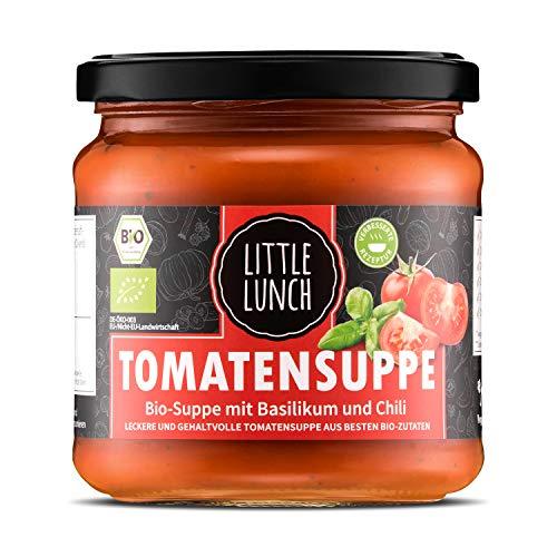 Little Lunch Bio Suppe | Tomatensuppe | 1x 350ml | Vegan | 100% Bio-Qualität | Ohne zugesetzten Zucker | Glutenfrei | Keine künstlichen Zusätze | Keine Geschmacksverstärker