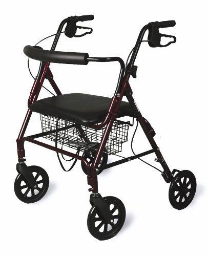 Medline Bariatric Rollator Walker/Seat 400 lb Capacity by Medline