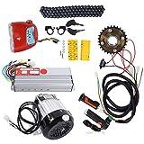Kit de conversión de bicicleta eléctrica, conversión de bicicleta eléctrica para adultos, kit de motor sin escobillas de 48 V 800 W CC, para kit de conversión de motor de bricolaje