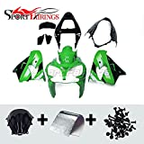 ABS Fairings Fit For ZX-9R 02 03 2002 2003 ZX9R 2002 Cowlings Plastic Motorcycle Body Kits Green Black Bodywork