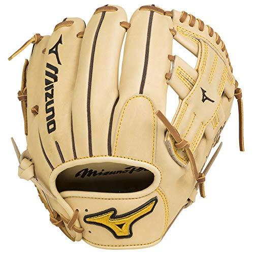 Mizuno Pro Baseballhandschuh Serie, Pro Baseball Glove GMP2-600R Infield/Pitcher 11.75 Inch Model Gloves, Tan, Tan T Web, 11.75