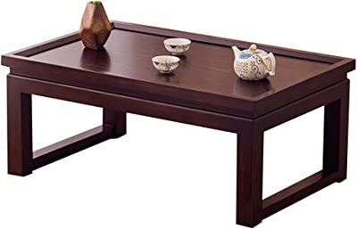 Solid Wood Table Creative Desk Small Table Windowsill Table Bay Window Balcony Small Coffee Table (Color : Brown, Size : 70 * 45 * 30cm)