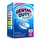 120 Retainer and Denture Cleaning Tablets (4 Months Supply) - Cleaner Removes Plaque, Odars, Stains from Dentures, Retainers, Night Guards, Mouth Guard, Invisalign, and Removable Dental Appliances.
