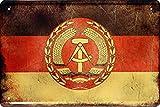 Länder Fahne Nationen National Flagge DDR Ostalgie 20x30 Blechschild 1447