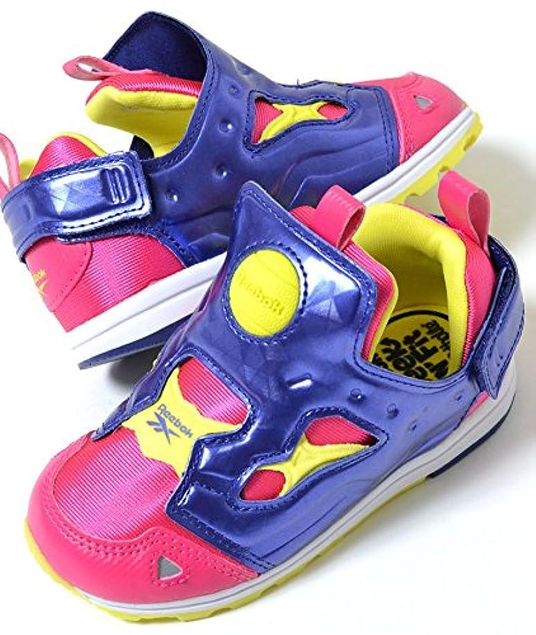 自分のチャレンジ静かに[リーボック] VERSA PUMP FURY バーサ ポンプフューリー パープルxピンク キッズ 子供靴