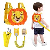 Lehoo Castle Toddler Leash for Walking, Baby Leashes for Toddlers with Induction Lock, Kid Harness with Leash 4-in-1, Child Safety Leash Anti Lost Wrist Link (Lion)