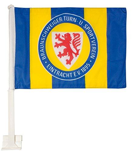 Autofahne Eintracht Braunschweig - 30 x 45 cm + gratis Aufkleber, Flaggenfritze®