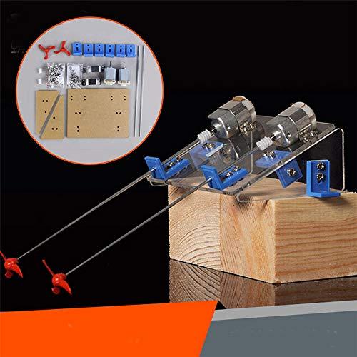 LaDicha 1 Set DIY Boat Propeller Kit Watercraft Motor Axis Model RC Hobby Hand Learning Toy