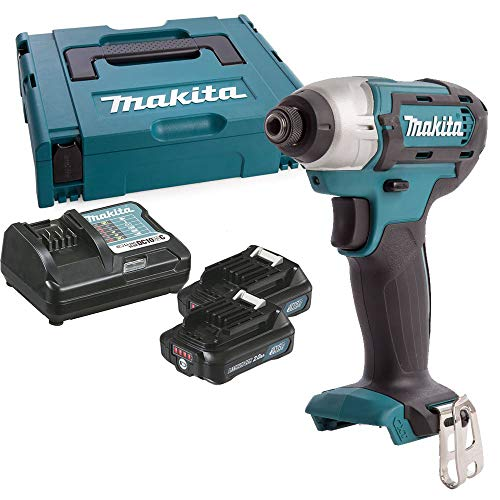 Makita TD110DZ 10.8V CXT Impact Driver with 2 x 2Ah Batteries, Charger, Case & Inlay