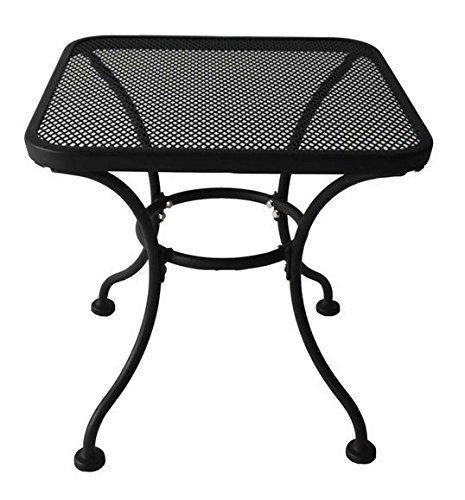 wrought iron side table - 8