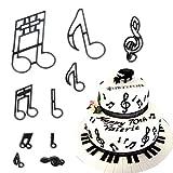 Judy Hafgey 10 pezzi / set note musicali taglierina per biscotti stampo per fondente in plastica stampo per decorare torte stampo per cupcake