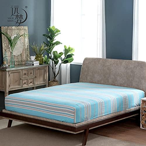 CYYyang Protector de colchón Transpirable.Rizo Bambú. Cubierta Antipolvo de una Sola Pieza para sábana-4_180 × 200CM