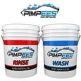 PIMPEES Seaux de Lavage Voiture x2 Wash & Rinse (20 litres) + 2 grilles Anti-remous (Grid Guard) - Format américain - Graduation de contenance - 2 couvercles Gamma Seal Lid