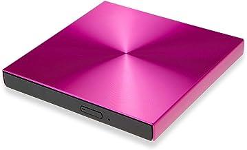 USB3.0 DVD Burner External DVD Reader CD-ROM Player Optical Drive for Laptop MAC OS/MacBook Win 10/8/7/XP PC (red)