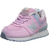Girls 574v1 Lace-Up Sneaker, Crystal Rose/Su, 9 R M US Infant (0-12 Months)