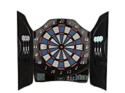 """Solex Electronic Dart Board Sports """"Bull Legend"""" 1-8 players with 6 soft darts arrows in the cabinet cabinet"""