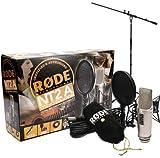 Rode NT2-A – Juego de micrófono Condensador + Soporte para micrófono Keepdrum
