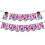 Doc Mcstuffin Happy Birthday Banner, Doc Mcstuffin Theme Bunting, Doc Mcstuffin Toy Hospital Theme Birthday Party Decoration Supplies