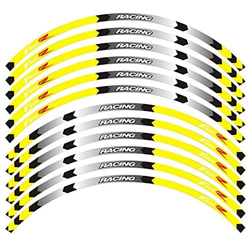 Protección de Ruedas para B-M-W F800R Motocicletas Accesorios Kit Pegatinas de Anillo Interior Stripes Pegatina de Rueda Raya Raya Remonte Reflectante (Color : D)