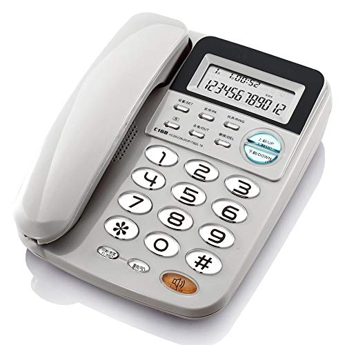 YHZMT Corded Telephone, Caller ID Display/Super Ringtone Fixed Phone, Big Button Phones for Seniors, Office/Home/Hotel Desk Phone