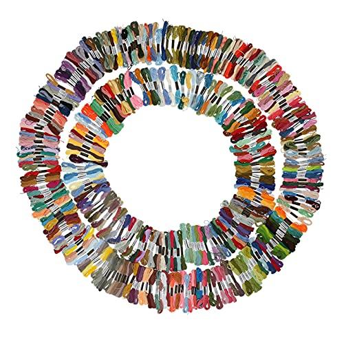 447 piezas de hilo de bordar, hilo de bordar de algodón de poliéster multicolor para pulsera de la amistad hilo de punto de cruz artesanía
