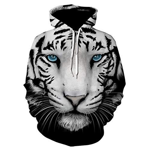 3D Sweater Tiger Printed Men 3D Hoodies Sweatshirts Boy Jacken Pullover Mode Animal Streetwear Out Coat,5XL