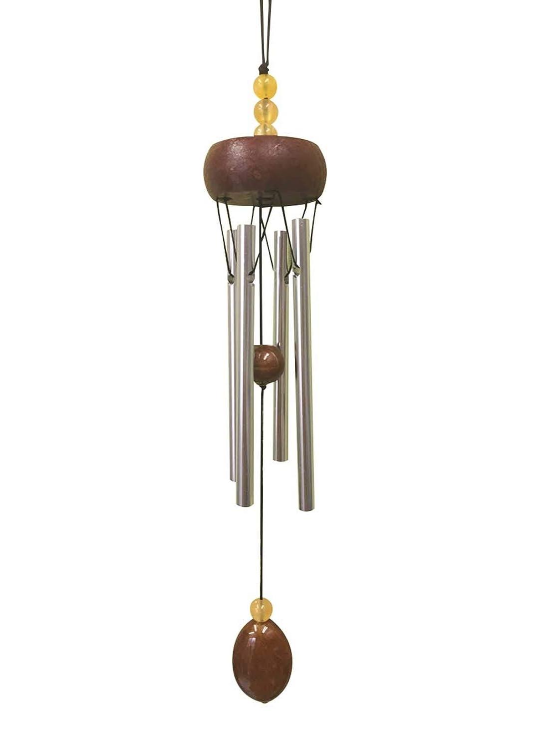 針性能ジャンクfuusui8 メディテイションチャイム ドアベル 風鈴 風水 パワーストーン ドアチャイム 金運アップ (黄色)