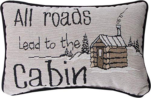 Manual All Roads Lead To The Cabin -Word Pillow