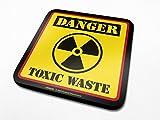 1art1 Humor - Danger Toxic Waste Posavasos (10 x 10cm)