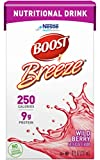 Boost Breeze Nutritional Drink, Wild Berry - No Artificial Sweeteners - 8 FL OZ (Pack of 3)