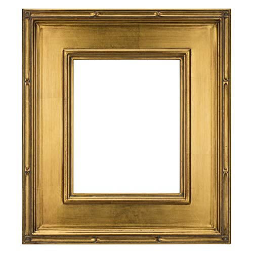 Creative Mark Museum Plein Aire Wooden Art Picture Frame Museum Quality Closed Corner 3.5 Inch Wide Frames - Gold Leaf - 9x12