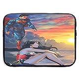 LEICH7 Super-Man Wond-er Woman Water Repellent Neoprene Laptop Sleeve Case Bag Cover 13/15 Inch MacBook Pro, MacBook Air, Notebook