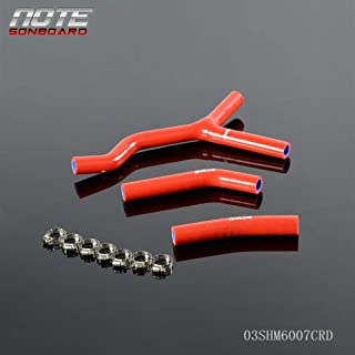Fit For KTM 125SX 200SX 2003 2004 2005 2006 Red Silicone Coolant Radiator Y Design Hose Kit +Clamps 3PCS